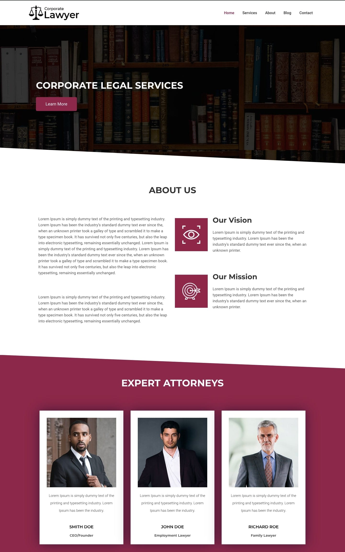 Free law firm WordPress theme