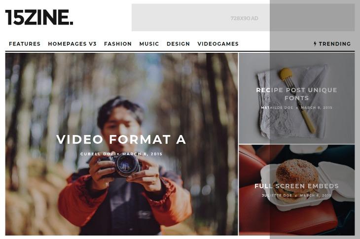 15Zine - WordPress News Theme