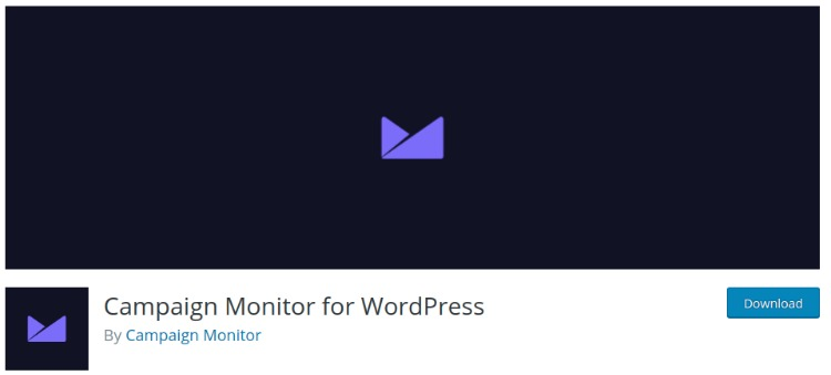 Campaign Monitor- WordPress email subscription plugin