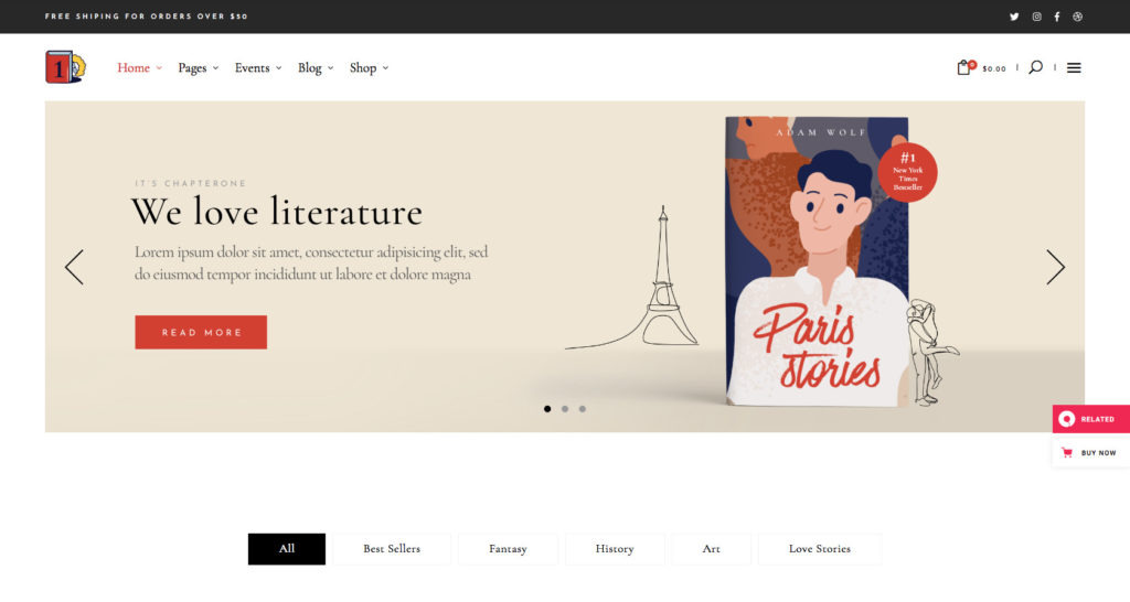 Chapter one - WordPress theme for writers