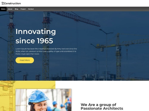 Construction- best free wordpress business themes