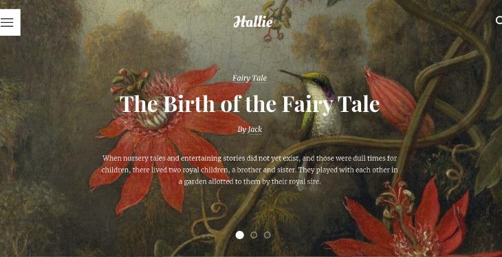 Hallie- WordPress theme for writers