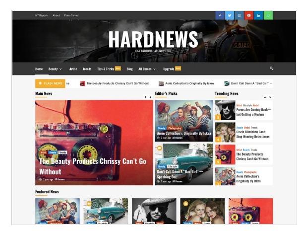Hard News - WordPress News Theme