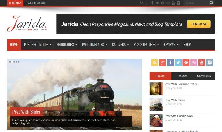Jarida - WordPress News Theme