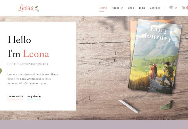 Leona - WordPress theme for writers
