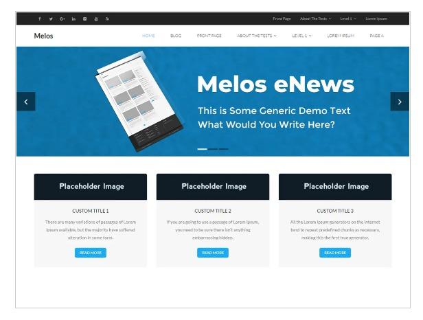 Melos eNews - WordPress News Theme