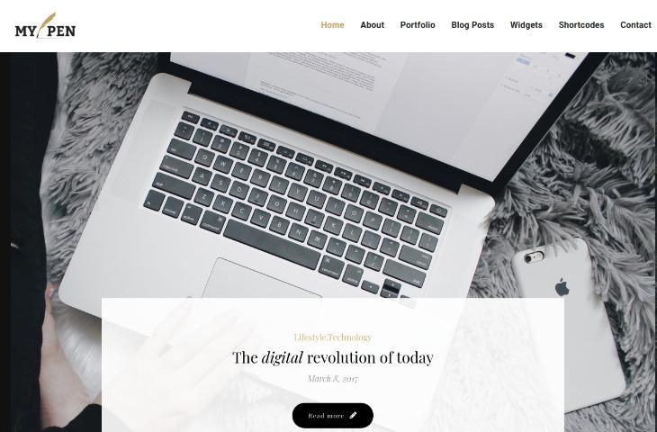 My pen- WordPress theme for writers