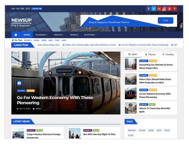 Newsup - WordPress News Theme