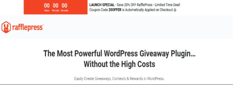 RafflePress- WordPress email subscription plugin