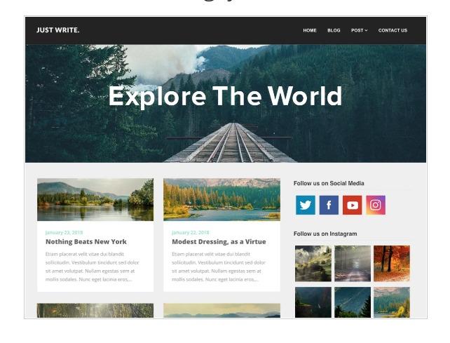 SEO writers blogily - WordPress theme for writers