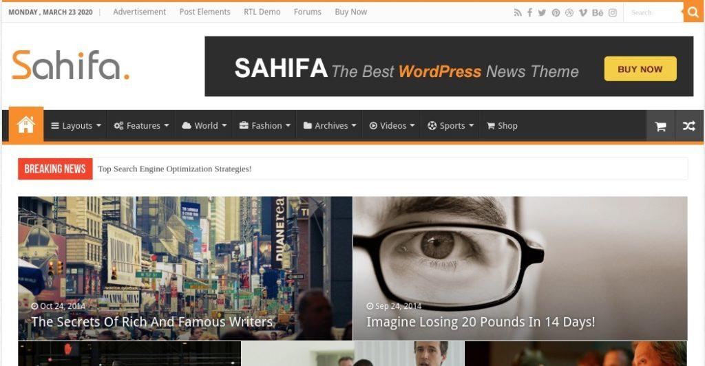 Sahifa - WordPress News Theme