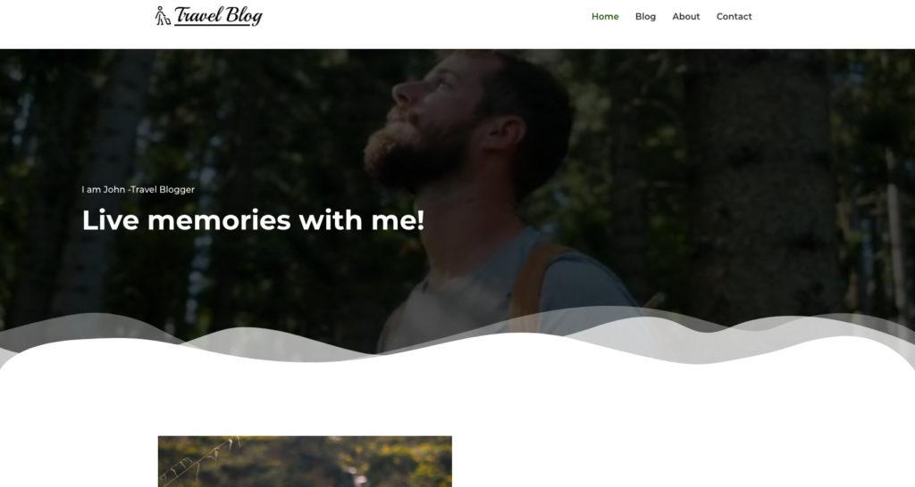 Travel blogger WordPress theme
