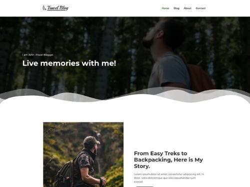 Travel Blog Theme - wordpress blog themes responsive