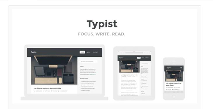 Typist - WordPress theme for writers