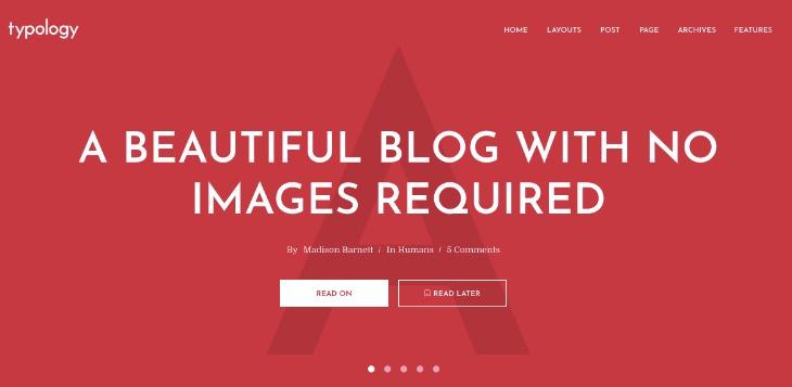 Typology- WordPress theme for writers