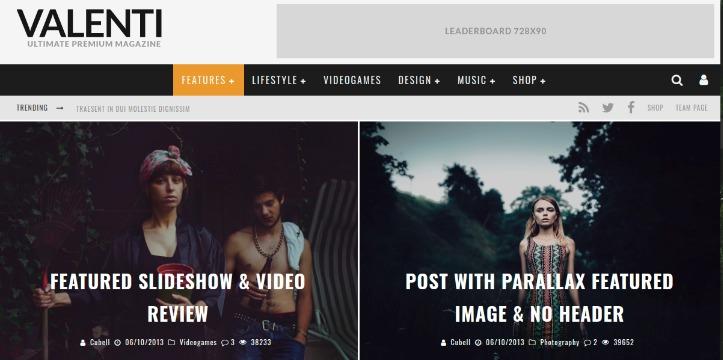 Valenti - WordPress News Theme