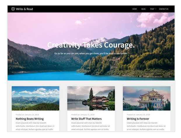 Write and read - WordPress theme for writers