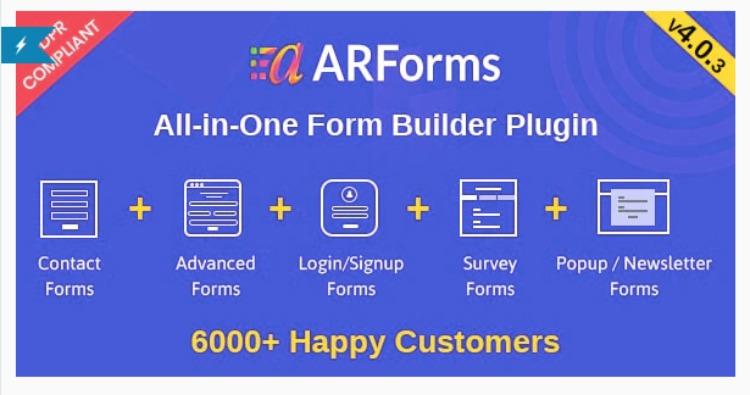 ARForms- WordPress form plugin