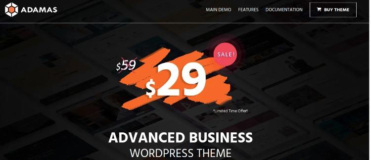 Adamas- WordPress Theme For Business