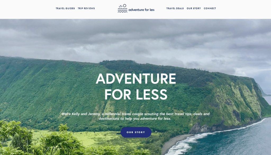 Adventure for less - Homepage