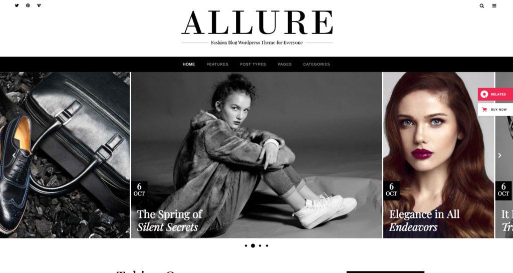 Allure- WordPress beauty blog theme