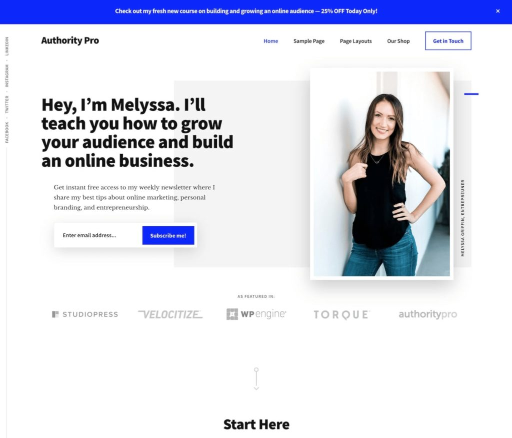 Authority pro - WordPress theme for bloggers