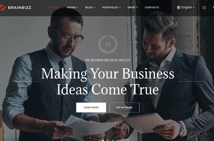 BrainBizz- WordPress Theme For Business