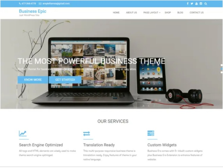Business epic- WordPress Theme For Business