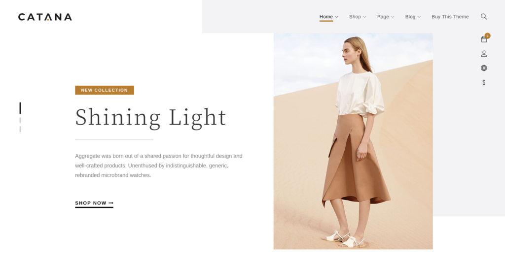 Catana- WordPress fashion blog theme