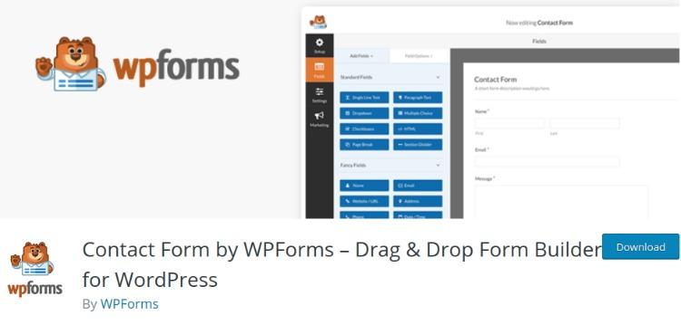 WP Forms- WordPress form plugin