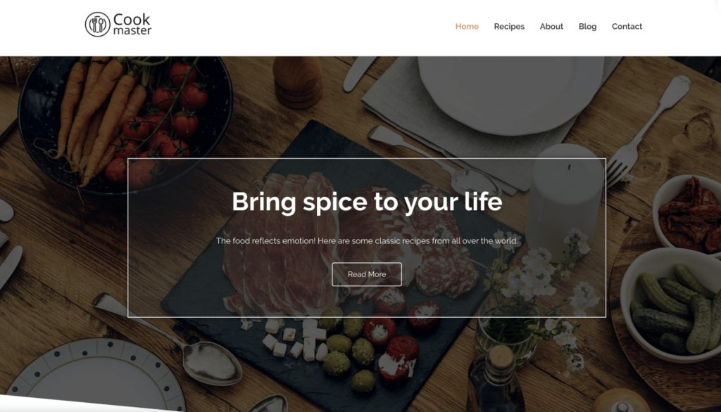 Cook master - WordPress theme for bloggers