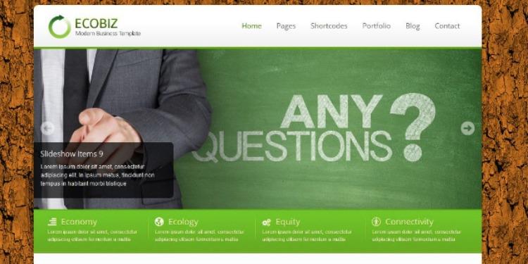 ECOBIZ- WordPress Theme For Business