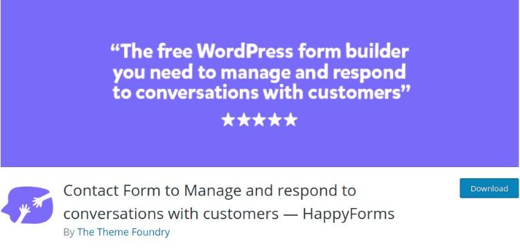 Happy Forms- WordPress form plugin