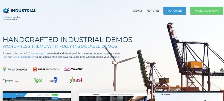 Industrial- WordPress Theme For Business
