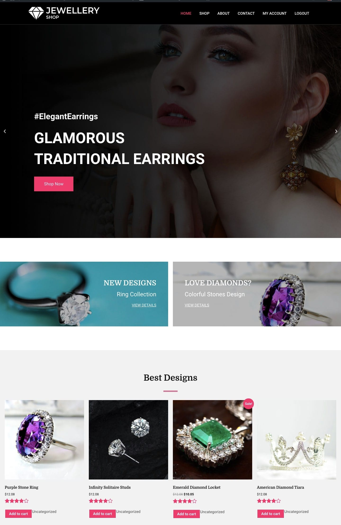 Jewellery Shop WordPress template