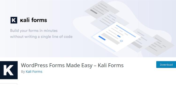 Kali Forms- WordPress form plugin