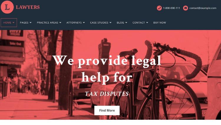 Lawyers- WordPress Theme For Business