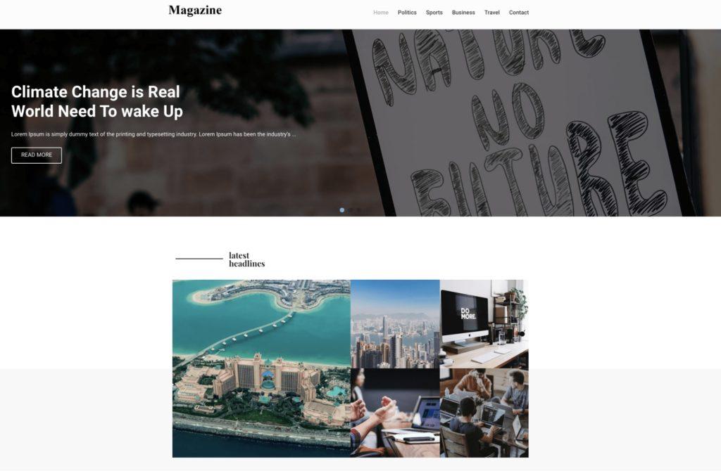 Magazine- WordPress theme for bloggers
