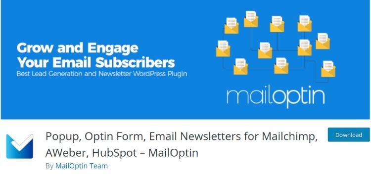 Mail Optin- WordPress form plugin