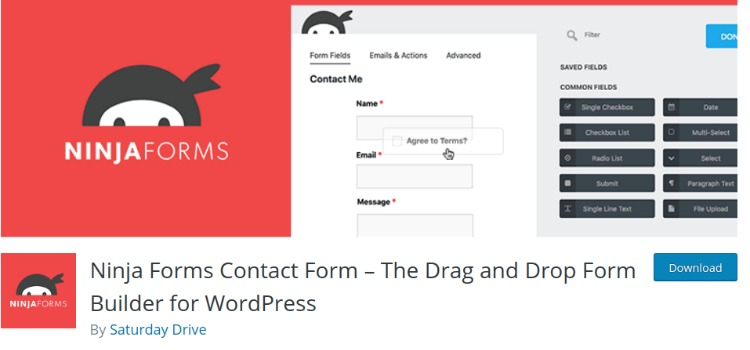 Ninja Forms- WordPress form plugin