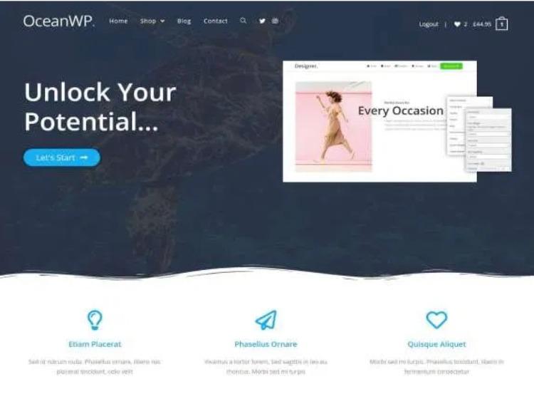 Ocean WP- WordPress Theme For Business
