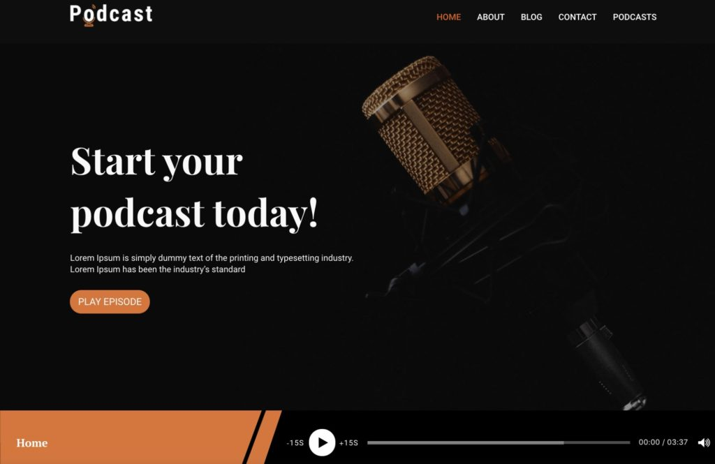 Podcast - WordPress theme for bloggers