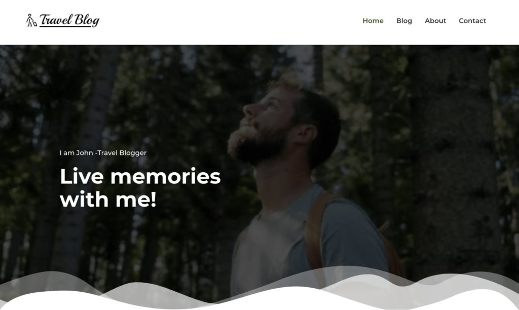 Travel blogger - WordPress theme for bloggers