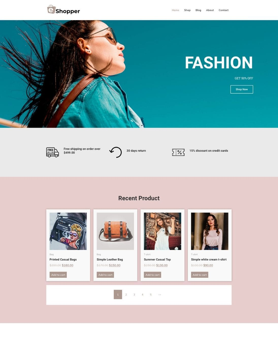 eCommerce WordPress theme for fashion stores
