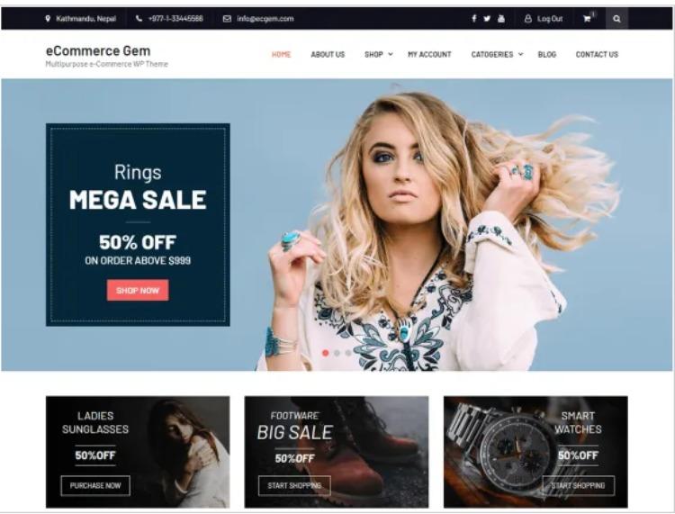 eCommerce gem- WordPress Theme For Business