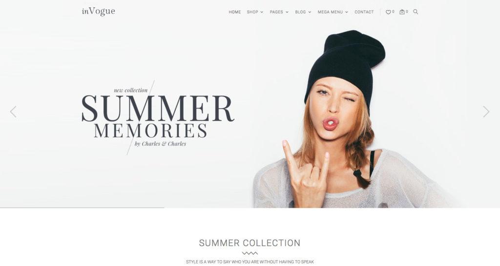 inVogue- WordPress fashion blog theme