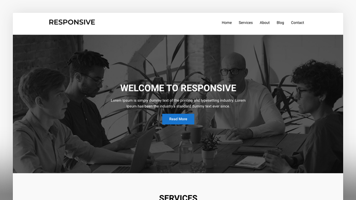 One Page Business- WordPress Theme For Business