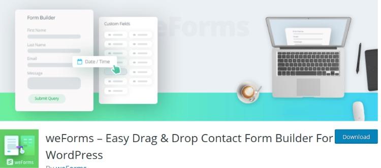 weForms- WordPress form plugin