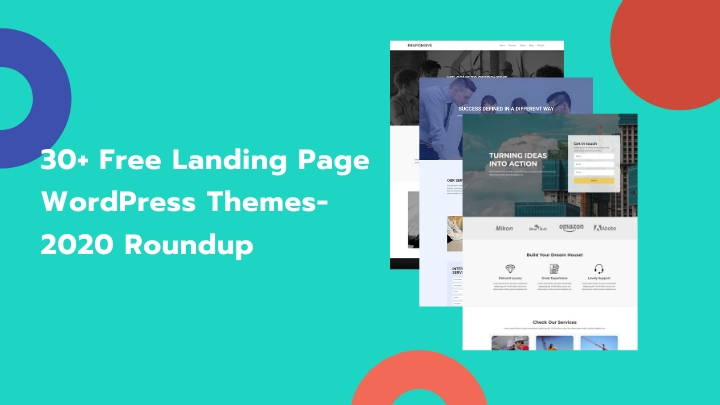 30+ Best Free Landing Page WordPress Themes- 2020 Roundup