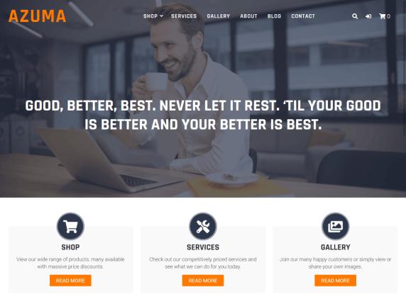Azuma- WordPress theme